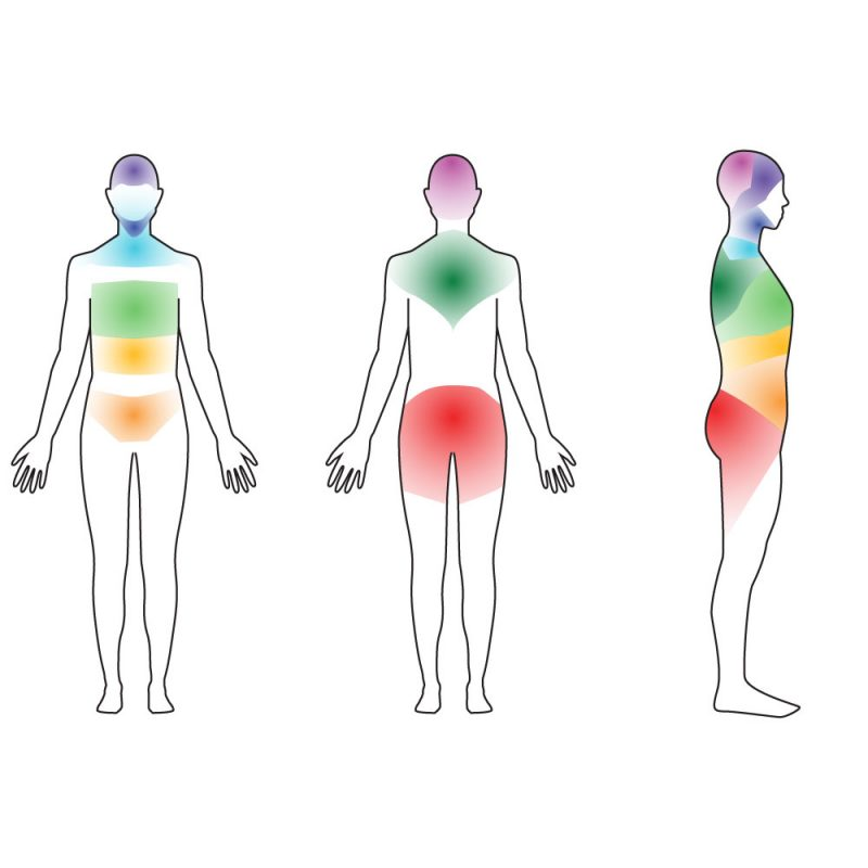 Natural Number region locations inthe body